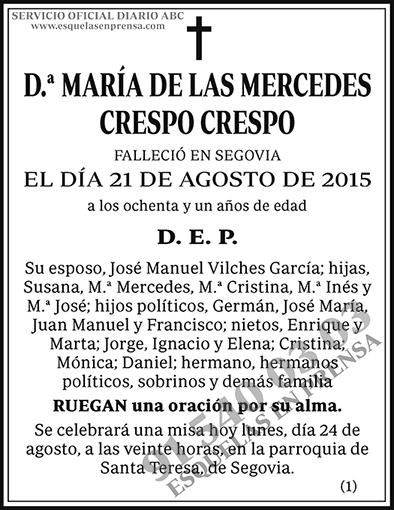 María de las Mercedes Crespo Crespo